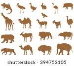 wild animals silhouette   Shutterstock .eps vector #394753105