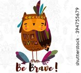 be brave  poster for children... | Shutterstock .eps vector #394755679