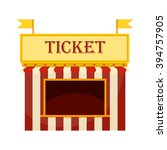 ticket cart or booth in... | Shutterstock .eps vector #394757905