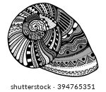 zentangle stylized shell. hand... | Shutterstock . vector #394765351