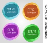 infographic  step by step | Shutterstock .eps vector #394767991