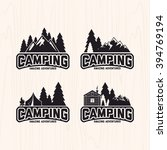 summer camp badges logos and... | Shutterstock .eps vector #394769194