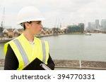 construction industry    female ... | Shutterstock . vector #394770331
