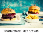 Big Homemade Burger With Meat ...