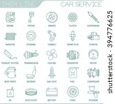 thin line car service vector... | Shutterstock .eps vector #394776625