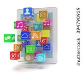 icon app fall in tablet pc | Shutterstock . vector #394790929