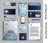 corporate identity template in... | Shutterstock .eps vector #394794019