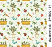 colorful seamless pattern with... | Shutterstock .eps vector #394801459