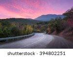 Mountain Winding Road Passing...