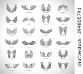 wings icons set isolated on... | Shutterstock .eps vector #394805791