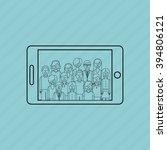 selfie concept design  | Shutterstock .eps vector #394806121