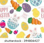 cute easter vector pattern cute ... | Shutterstock .eps vector #394806427
