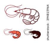 shrimp icon. shrimp in vector... | Shutterstock .eps vector #394815964