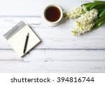 spring look at the old white... | Shutterstock . vector #394816744