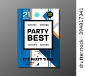 party flyer template. vector... | Shutterstock .eps vector #394817341