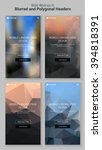 blurred polygonal mobile...