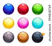 cartoon colorful bubbles balls...