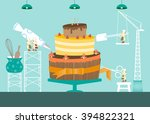 make a cake  design for sweet... | Shutterstock .eps vector #394822321