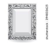 silver vintage frame isolate on ... | Shutterstock .eps vector #394833625
