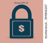 safety lock vector illustration | Shutterstock .eps vector #394846207