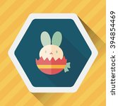 easter bunny flat icon with... | Shutterstock .eps vector #394854469