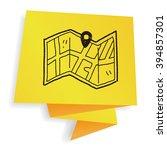 map location doodle | Shutterstock . vector #394857301