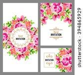vintage delicate invitation... | Shutterstock .eps vector #394865929