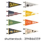 set of adventure pennants.... | Shutterstock .eps vector #394866559