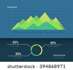 infographic dashboard vector...