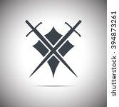 abstract illustration   shield... | Shutterstock . vector #394873261
