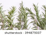 rosemary isolated on white... | Shutterstock . vector #394875037