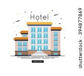 hotel building icon. vector eps ... | Shutterstock .eps vector #394877869