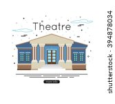 theater building flat icon.... | Shutterstock .eps vector #394878034