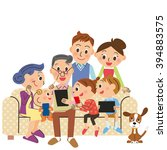 three generation family... | Shutterstock .eps vector #394883575