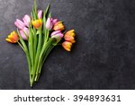 Fresh Colorful Tulip Flowers O...