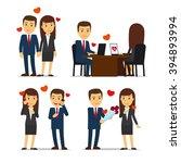 office romance | Shutterstock . vector #394893994