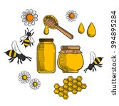 beekeeping and farm honey... | Shutterstock .eps vector #394895284