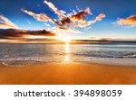 beautiful tropical sunrise on... | Shutterstock . vector #394898059