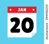 calendar icon flat january 20