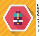 valentine's day present flat... | Shutterstock .eps vector #394909075
