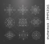sacred geometry signs. set of... | Shutterstock .eps vector #394913161