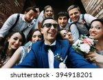 Handsome Groom Selfie With Fun...
