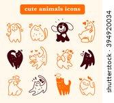 Stock photo flat pet logo dog cat simple icon pet shop logo animal goods store pet food logo brand design 394920034