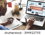 e learning education internet... | Shutterstock . vector #394922755