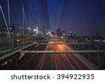 brooklyn bridge ny by night | Shutterstock . vector #394922935