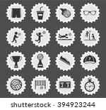 volleyball simply icons for web ... | Shutterstock .eps vector #394923244