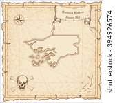 old pirate map of guinea bissau.... | Shutterstock .eps vector #394926574