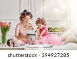 happy loving family. mother and ...   Shutterstock . vector #394927285