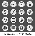 university simply icons for web ... | Shutterstock .eps vector #394927474