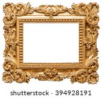Golden Picture Frame. Vintage...
